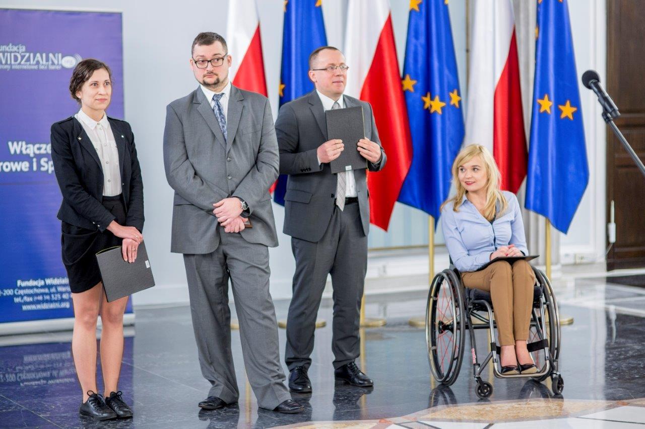 Wyroznieni w Konkursie Strona Internetowa bez Barier - Fot. Magda Pawluczuk